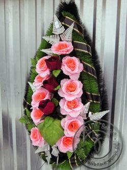 Венок из искусственных цветов Миледи