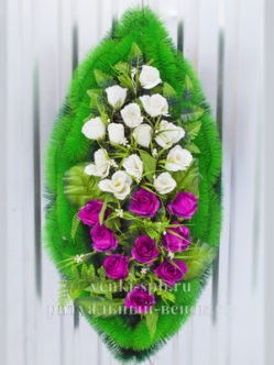 """Траурный венок на похороны из искусственных цветов """"Блюз"""""""