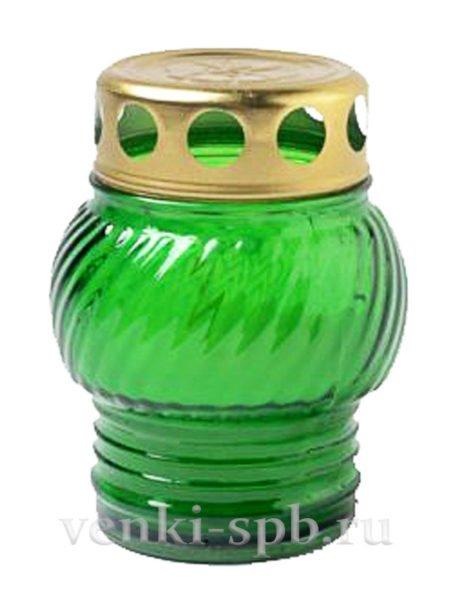 Лампада неугасимая — малая (зеленый) - Фото 1   Компания «Венок»