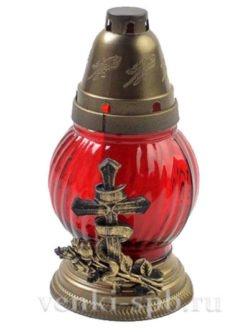 Лампада неугасимая большая - красная