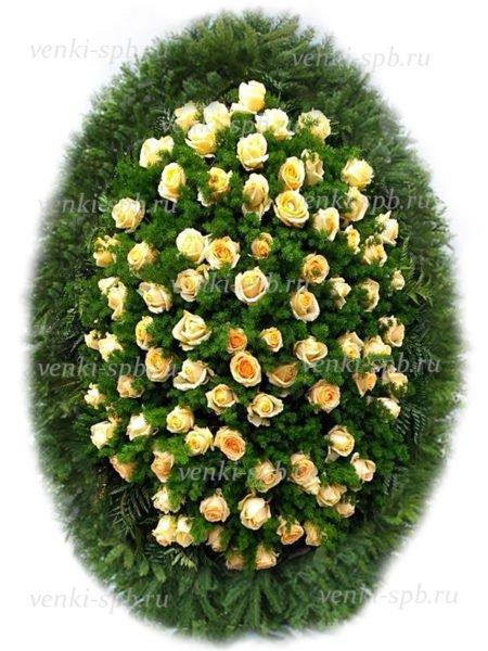 Венок из живых цветов №22 - Фото 1 | Компания «Венок»