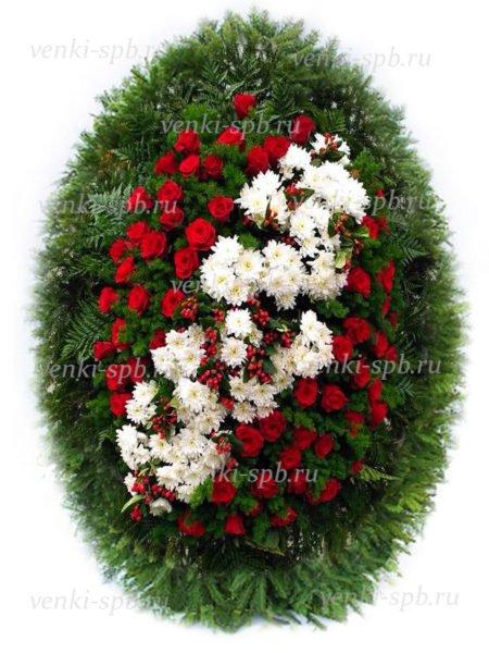 Венок из живых цветов №31 - Фото 1 | Компания «Венок»