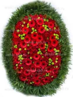 Заказать траурный венок из живых цветов