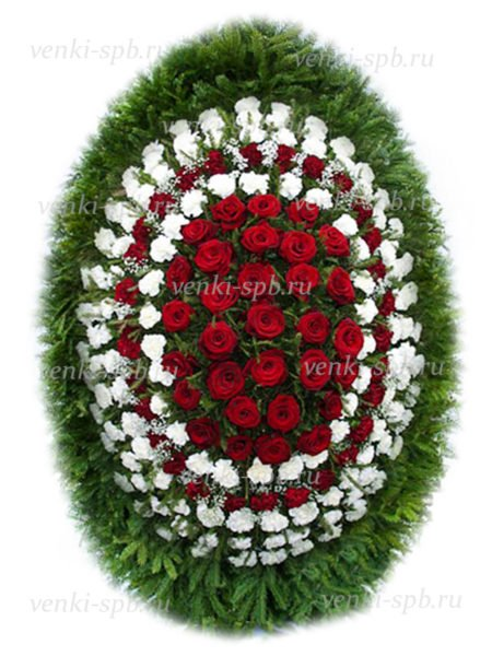Венок из живых цветов №19 - Фото 1 | Компания «Венок»