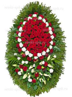 Венок из цветов на похороны №20