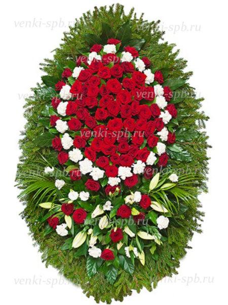 Венок из живых цветов №38 - Фото 1 | Компания «Венок»