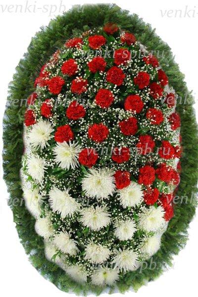 Венок из живых цветов №40 - Фото 1 | Компания «Венок»