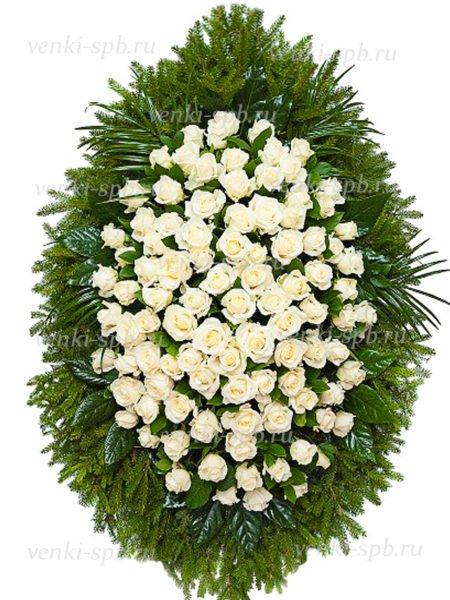 Венок из живых цветов №26 - Фото 1 | Компания «Венок»