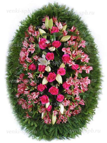Венок из живых цветов №43 - Фото 1 | Компания «Венок»