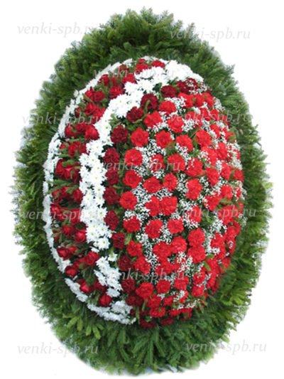 Венок средний из живых цветов №49 - Фото 1 | Компания «Венок»