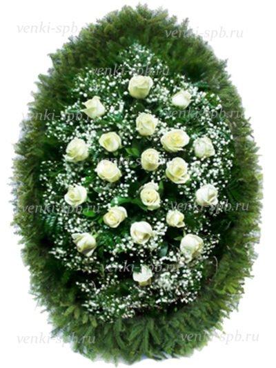 Венок из живых цветов №52 - Фото 2 | Компания «Венок»