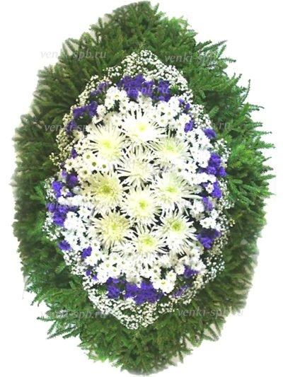 Венок из живых цветов №54 - Фото 1 | Компания «Венок»