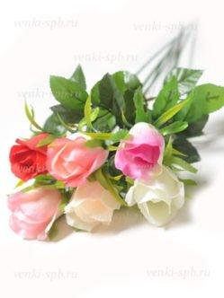 Шелковые розы на кладбище за 40 руб в СПб