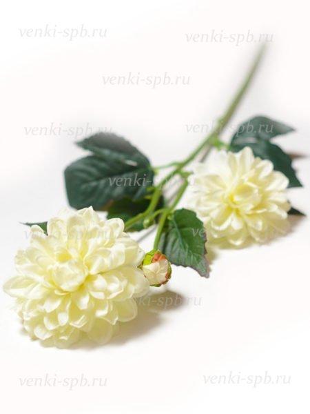 Георгины на ветке Монига- белый - Фото 1 | Компания «Венок»