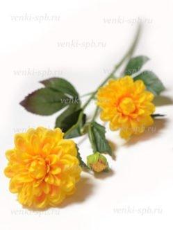 Желтые георгины на кладбище заказать в СПб