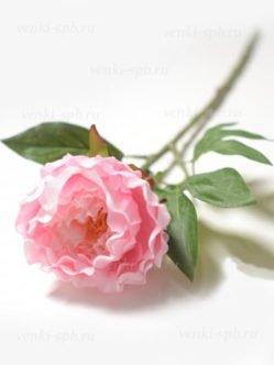 Искусственный розовый пион на могилу СПб