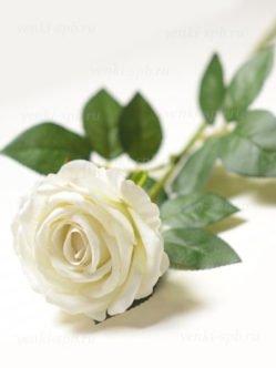 Белоснежная искусственная роза на похороны в Санкт-Петербурге