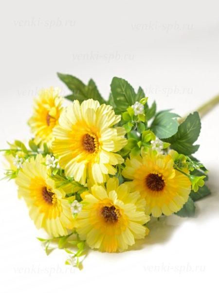 Букет гербер Девилс — желтый - Фото 2 | Компания «Венок»