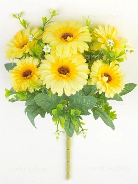Букет гербер Девилс – желтый - Фото 1   Компания «Венок»