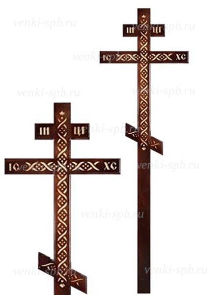 Крест сосновый КДС-33 «Коса» - Фото 1 | Компания «Венок»