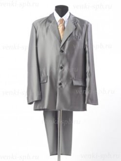 Костюм серого цвета ( пиджак, брюки, рубашка и галстук) на похороны в гроб купить в спб)