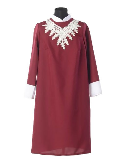 Платье для погребения «Милорада» бордо - Фото 1   Компания «Венок»
