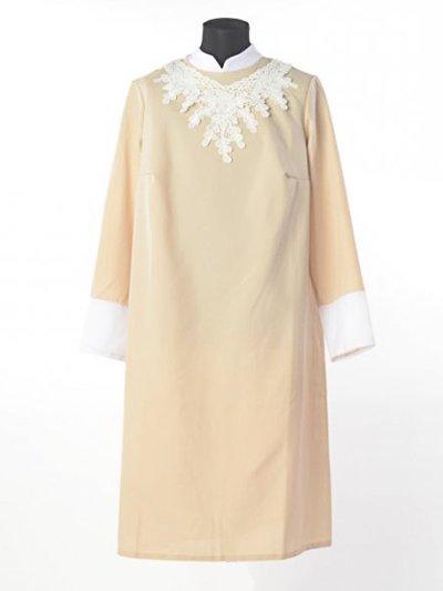 Платье для погребения «Милорада» кремовое - Фото 1 | Компания «Венок»