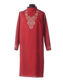 Бордовое платье для умершей в гроб Муромское