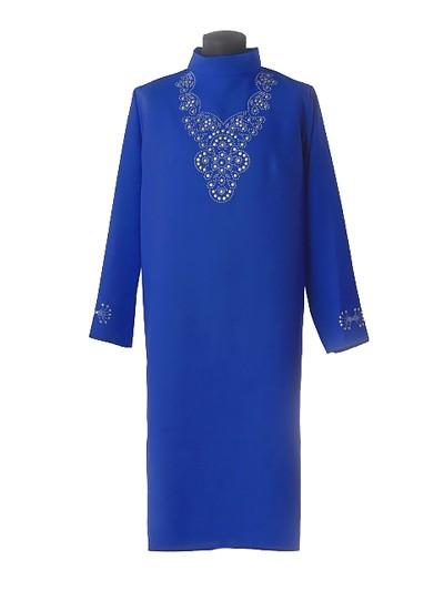 Платье для погребения Муромское синее - Фото 1 | Компания «Венок»