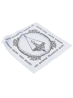 Шелковый белый платок в руку с молитвой купить в спб