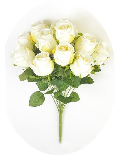 Букет бутонов роз Студли 12 бутонов белый - Фото 1 | Компания «Венок»