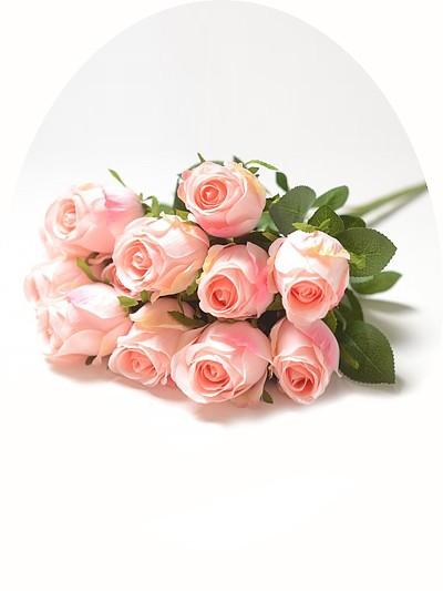 Букет бутонов роз Студли 12 бутонов персиковый - Фото 1 | Компания «Венок»