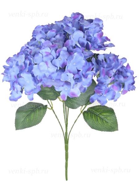 Искусственные цветы Букет гортензии ЭЙРТ — синий - Фото 1 | Компания «Венок»
