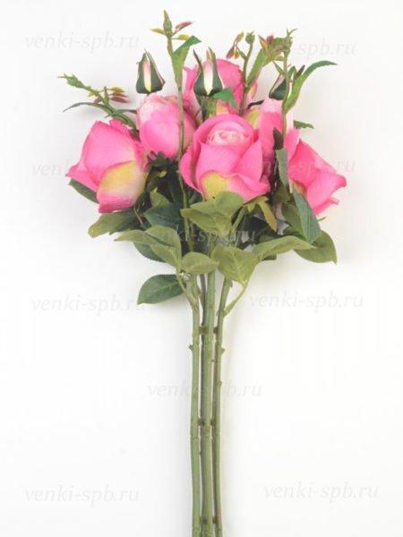 Букет бутонов роз МАШАМ (7 веток) малиновый - Фото 1 | Компания «Венок»
