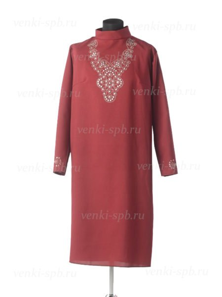 Платье для погребения Муромское бордо - Фото 2 | Компания «Венок»