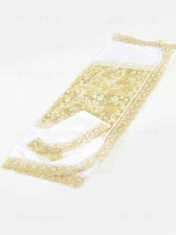 Золотое покрывало и наволочка в гроб ( жаккард, парча) СПб