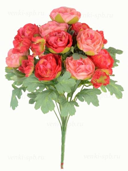 Искусственные цветы Букет пионов ЛОКЕРБИ ( 12 соцветий) малиновый - Фото 1 | Компания «Венок»
