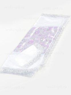 Сиреневое покрывало и наволочка в гроб ( жаккард, парча,) СПб