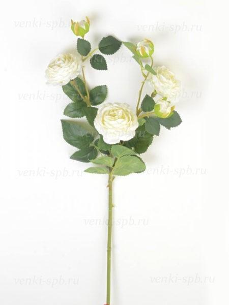 Веточка роз Ранко белая LUX - Фото 1 | Компания «Венок»