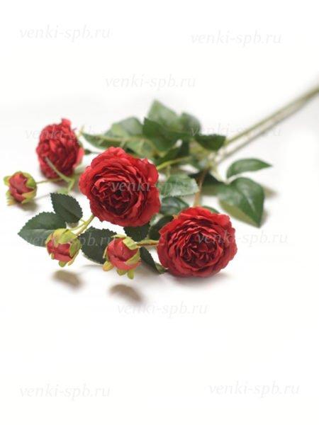 Веточка роз Ранко темно-красная LUX - Фото 1   Компания «Венок»