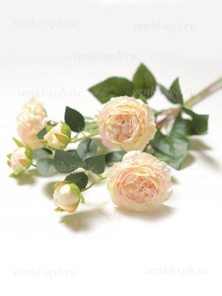 Веточка роз Ранко персиковая LUX - Фото 1 | Компания «Венок»