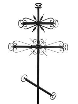 Крест металлический М3 купить на могилу в спб