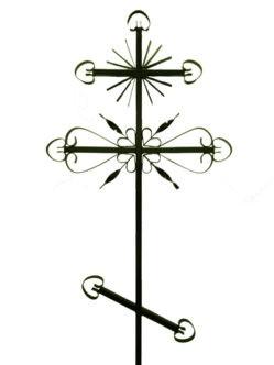 Крест металлический М2 купить на могилу в спб