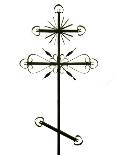 Крест металлический М2 (солнце) - Фото 1   Компания «Венок»