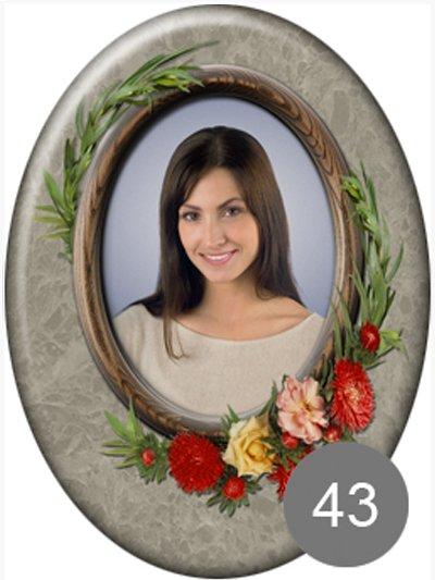 Фото на памятник с цветами 43 - Фото 1 | Компания «Венок»