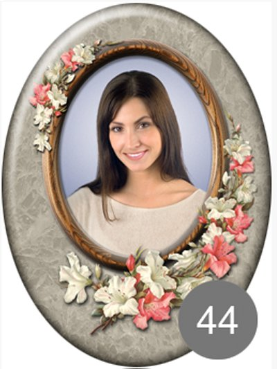 Фото на памятник с цветами 44 - Фото 1 | Компания «Венок»
