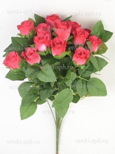 Букет бутонов роз Брора — малиновый - Фото 1 | Компания «Венок»