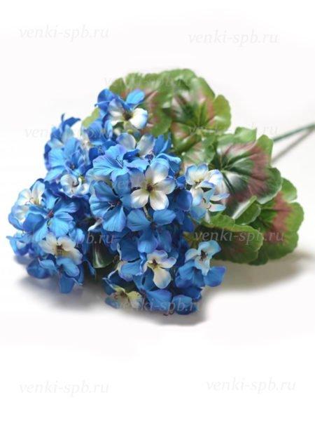 Букет герани Сантон — синий - Фото 1   Компания «Венок»