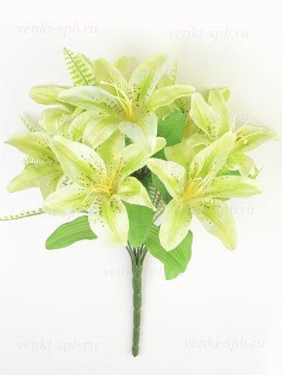 Букет лилий Карвуд — бело-зеленый - Фото 1 | Компания «Венок»