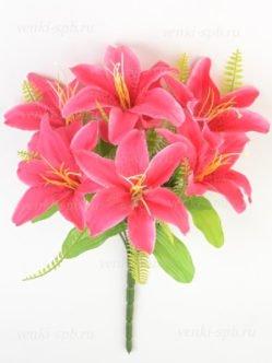 Букет лилии Карвуд малиновый